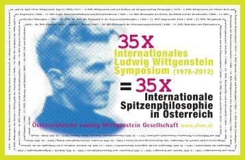 "Flyer ""35x IWS"" - Austrian Ludwig Wittgenstein Society"