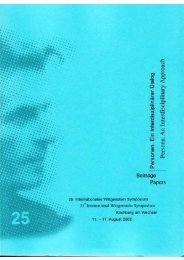 Persons. An Interdisciplinary Approach - Austrian Ludwig ...