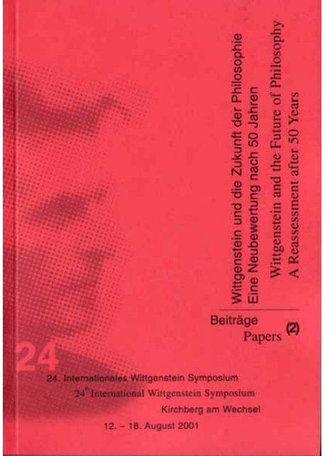 Witti Buch2 2001 Qxd Austrian Ludwig Wittgenstein Society