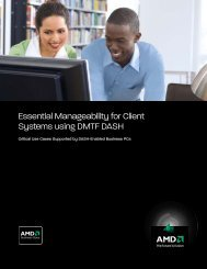 Essential Manageability for Client Systems using DMTF DASH - AMD