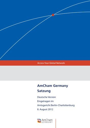 AmCham Germany Satzung