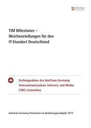TIM Milestones – Weichenstellungen für den IT-Standort Deutschland
