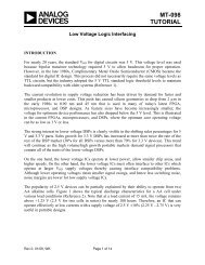 MT-098: Low Voltage Logic Interfacing - Analog Devices