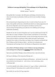 Stellenwert neuropsychologischer Untersuchungen in der ... - DGNB