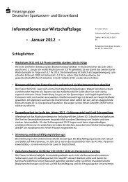 Informationen zur Wirtschaftslage - Januar 2012 -