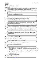 Checkliste für das Vorgespräch