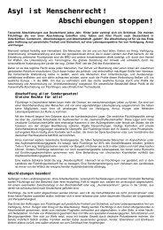 Abschiebungen stoppen! - Antifaschistische Aktion Lüneburg/Uelzen