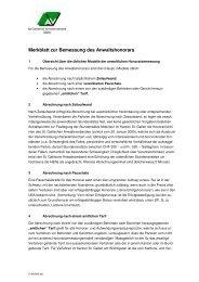 Merkblatt zur Bemessung des Anwaltshonorars - St. Gallischer ...
