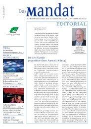mandat»: Ausgabe 02/2003 - St. Gallischer Anwaltsverband