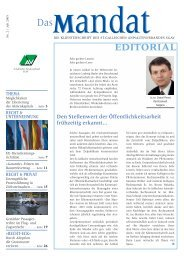 mandat»: Ausgabe 02/2005 - St. Gallischer Anwaltsverband