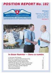 POSITION REPORT No. 182 - AOPA Switzerland