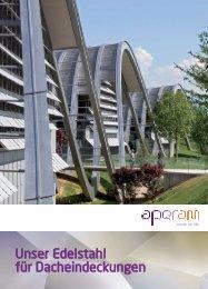 Unser Edelstahl für Dacheindeckungen - Aperam