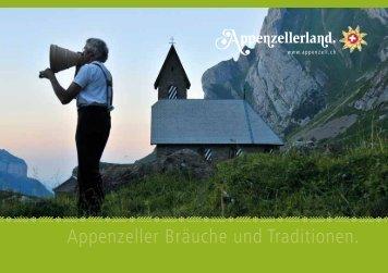 Appenzeller Bräuche und Traditionen. - Appenzell.ch
