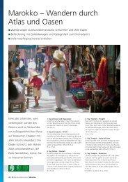Marokko – Wandern durch Atlas und Oasen