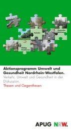 Aktionsprogramm Umwelt und Gesundheit Nordrhein ... - APUG