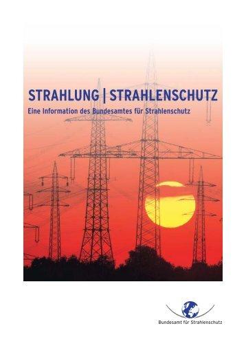 """Broschüre """"Strahlung und Strahlenschutz"""" - APUG"""