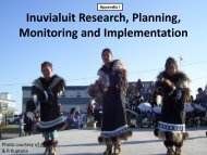 Inuvialuit Research, Planning, Monitoring and Implementation