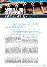 AuG 7/02 spezial - Arbeit und Gesundheit