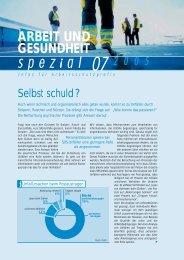 AuG 7-05 spezial RZ.qxd - Arbeit und Gesundheit