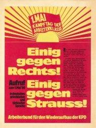 1.Mai - Arbeiterbund für den Wiederaufbau der KPD