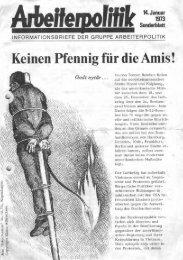 Keinen Pfennig für die Amis! - der Gruppe Arbeiterpolitik