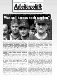 1 2006 - der Gruppe Arbeiterpolitik