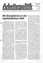 INFORMATIONSBRIEFE DER GRUPPE ARBEITERPOLITIK