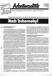 4 1986 - der Gruppe Arbeiterpolitik
