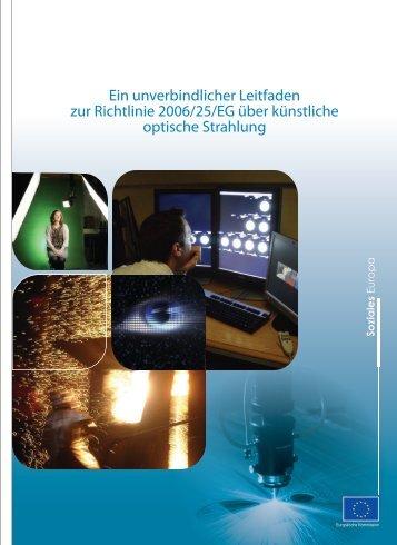 Ein unverbindlicher Leitfaden zur Richtlinie 2006 ... - Arbeitsinspektion