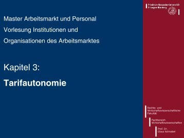 Master-Vorlesung Institutionen und Organisationen