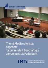 IT- und Mediendienste: Angebote für Lehrende / Beschäftigte der ...