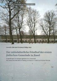 Der Dlittelalterliche Friedhof der ersten jüdischen GeDleinde in.Basel