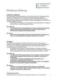 Nordhäuser Erklärung zum Ausdruck auf A4