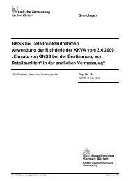 GNSS bei Detailpunktaufnahmen Anwendung der ... - Kanton Zürich