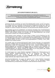 ANTI-KORRUPTIONSRICHTLINIE (B-231) 1 ... - Armstrong