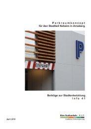 Parkraumkonzept für den Stadtteil Neheim, 2010 - Arnsberg