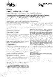 NRW.BANK Mittelstandskredit Merkblatt - Bürgschaftsbank NRW