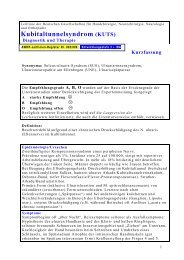 Diagnostik und Therapie des Kubitaltunnelsyndroms - Arztbibliothek