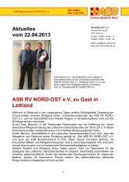 Infos dazu: HIER! - ASB RV NORD-OST eV