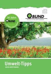 BUND Umwelt-Tipps Stuttgart 2013