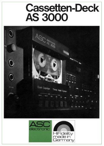 ASC-Prospekt Cassetten-Deck AS 3000 - ASC 6000