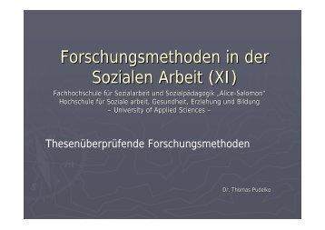 Forschungsmethoden in der Sozialen Arbeit (XI) - Alice Salomon ...