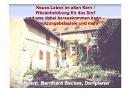 Vortrag 08 Bernhard Backes - Neues Leben im alten Kern