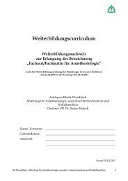 Weiterbildungscurriculum - Asklepios