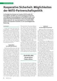 Kooperative Sicherheit: Möglichkeiten der NATO-Partnerschaftspolitik