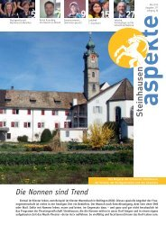 Ausgabe 05/2013 (Grösse 3.8 MB) - Aspekte Steinhausen