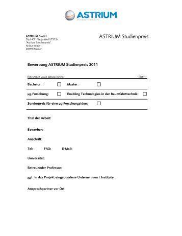 ASTRIUM Studienpreis