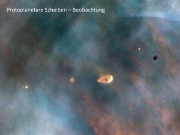 Protoplanetare Scheiben – Beobachtung