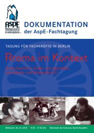 "Dokumentation der Tagung ""Rroma im Kontext"" - AspE e.V."