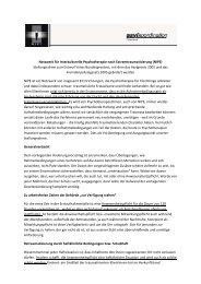 Stellungnahme des Netzwerks der Psychotherapie
